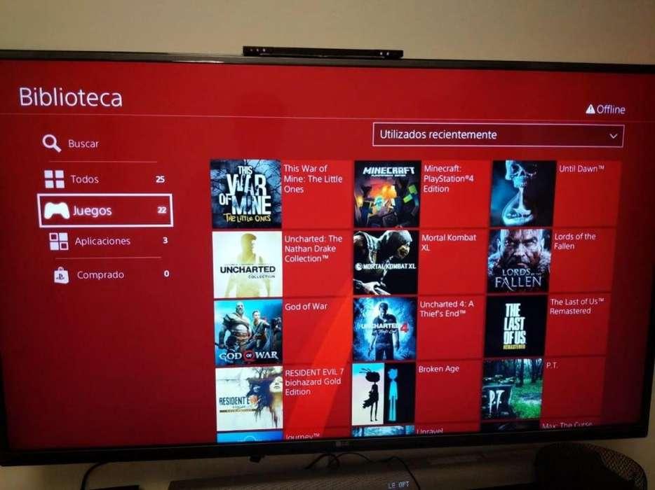 Play Station 4 impecable flasheada con 25 juegos completos PS4