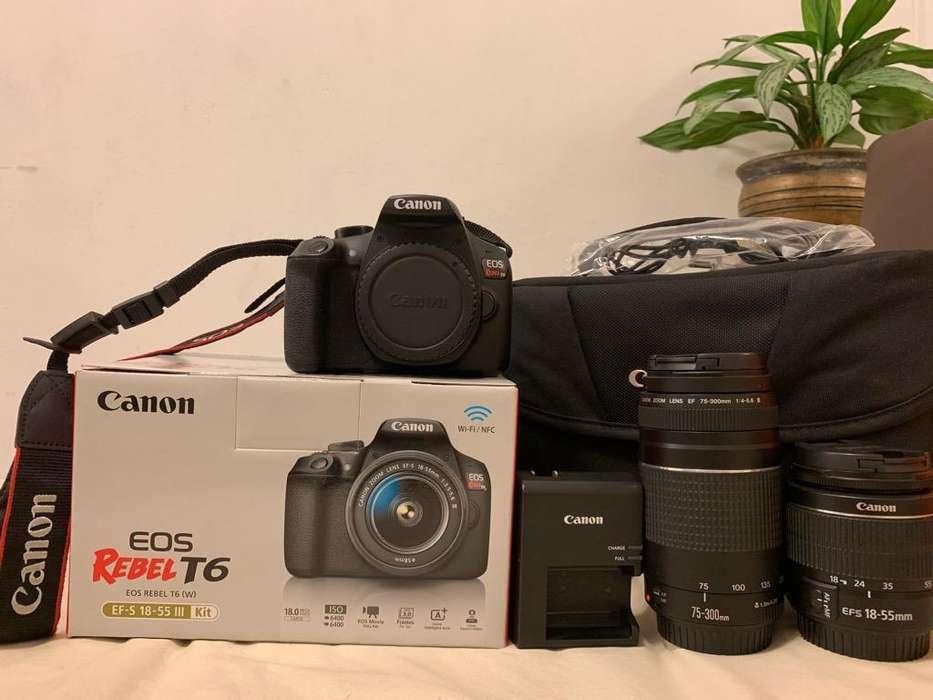 Paquete Camara Canon Eos Rebel T6