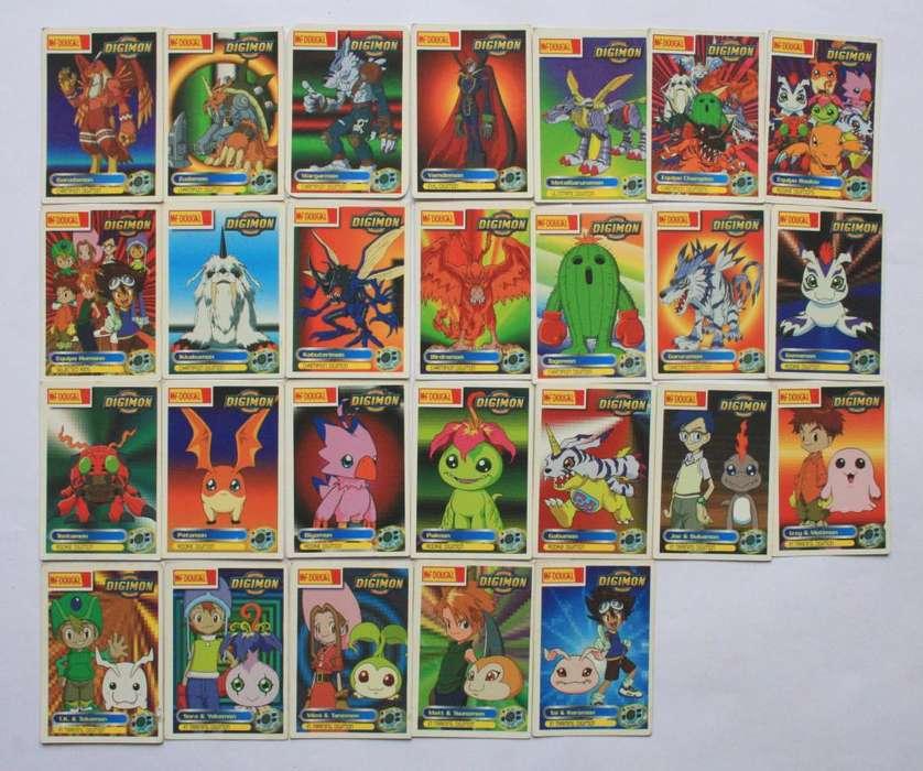 Semicolección Tarjetas Digimon 1 2 3 Mcdougal Cards