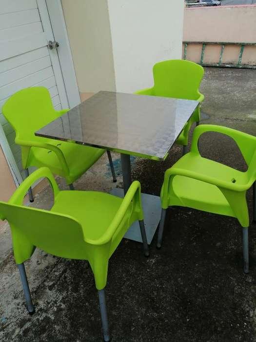 Vendo 4 Juegos de Mesa con <strong>silla</strong>s
