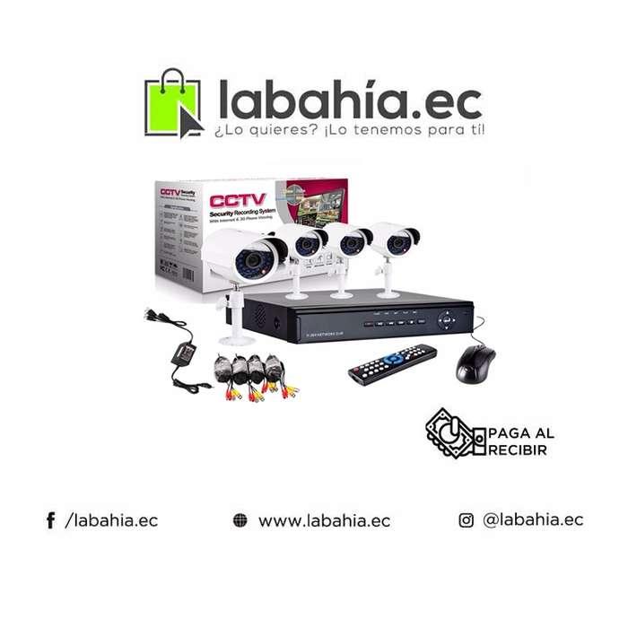 Kit 4 Camaras De Seguridad Y Vigilancia Sin Disco Duro