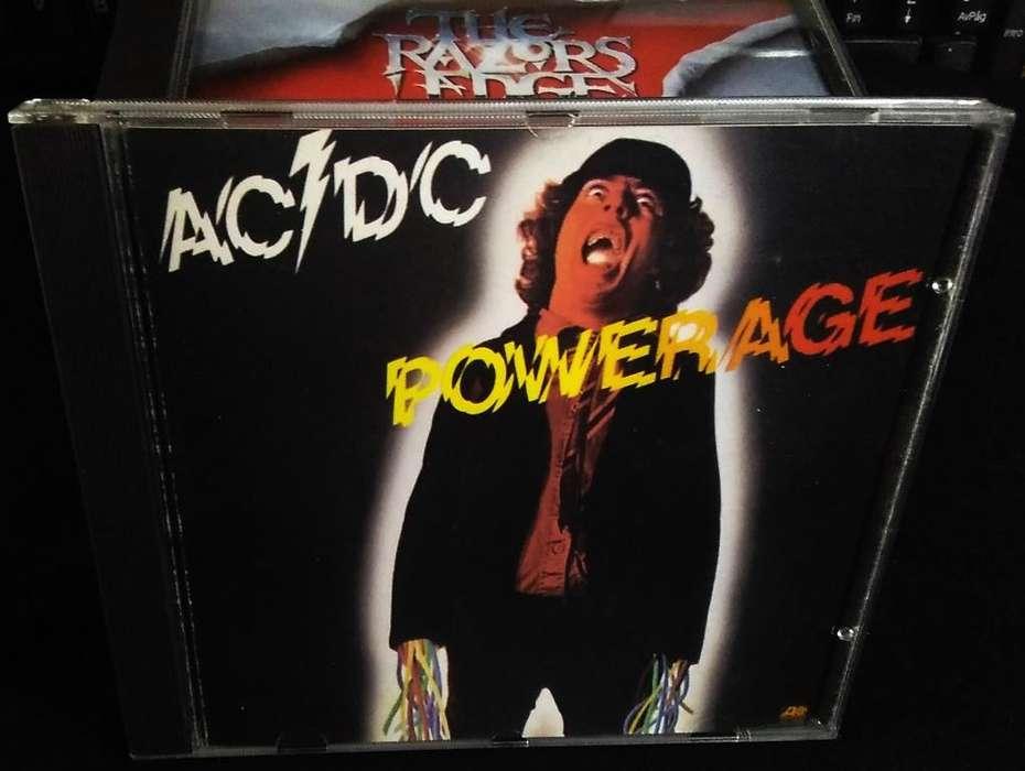 CD ORIGINAL de ACDC POWERAGE Americano Made in USA en 1978 en Perfecto estado, Tenemos Otros. Por favor <strong>leer</strong>.