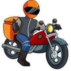 Mensajero Courrier con moto-Buenaventura