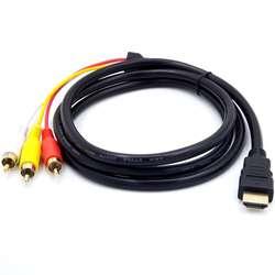 Cable Adaptador Hdmi a 3rca Audio y Video 1.5 Metros