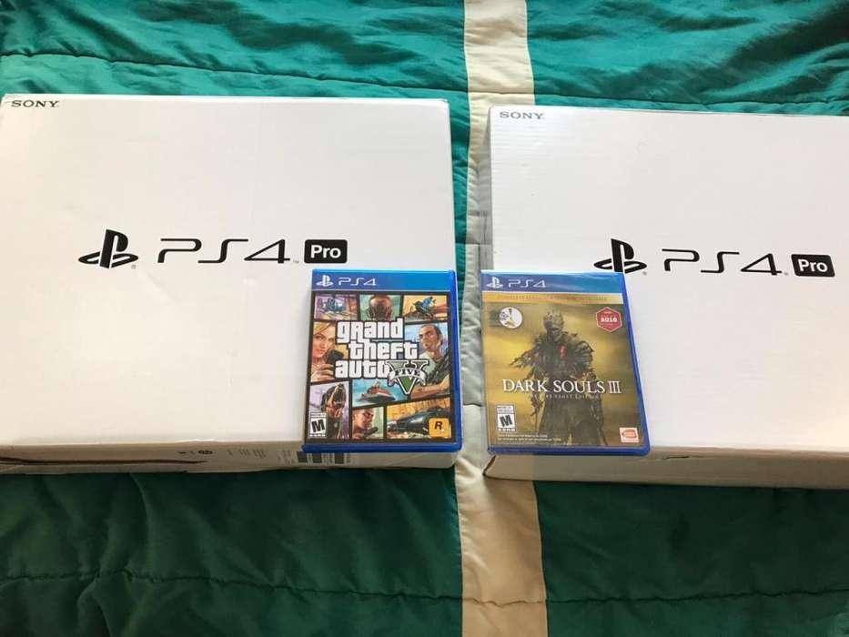Ps4 Playstation 4 Pro 1tb 4k Nuevos De Paquete mas 1 juego original Ultimos equipos