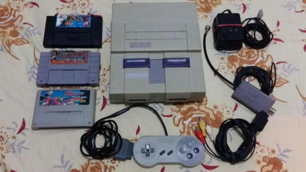 Consola Videojuegos Super Nintendo Snes
