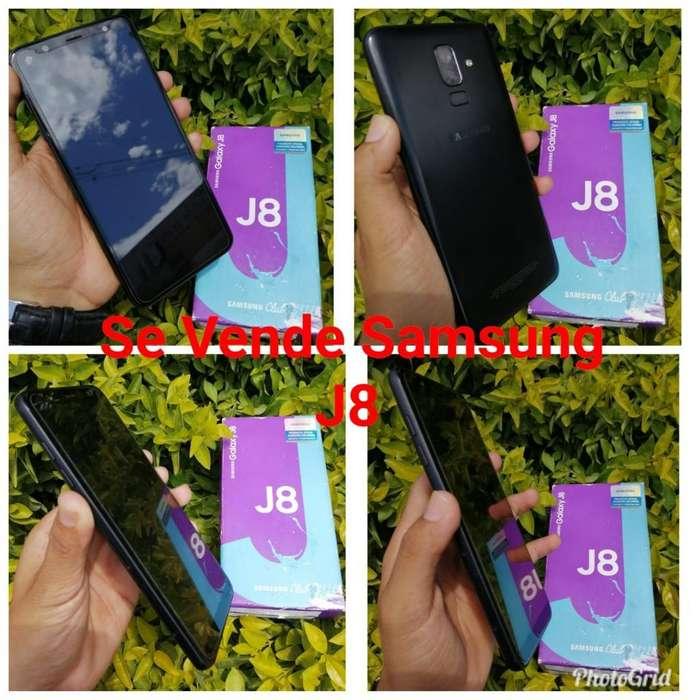 Se Vende Samsung J8 Black con Su Caja