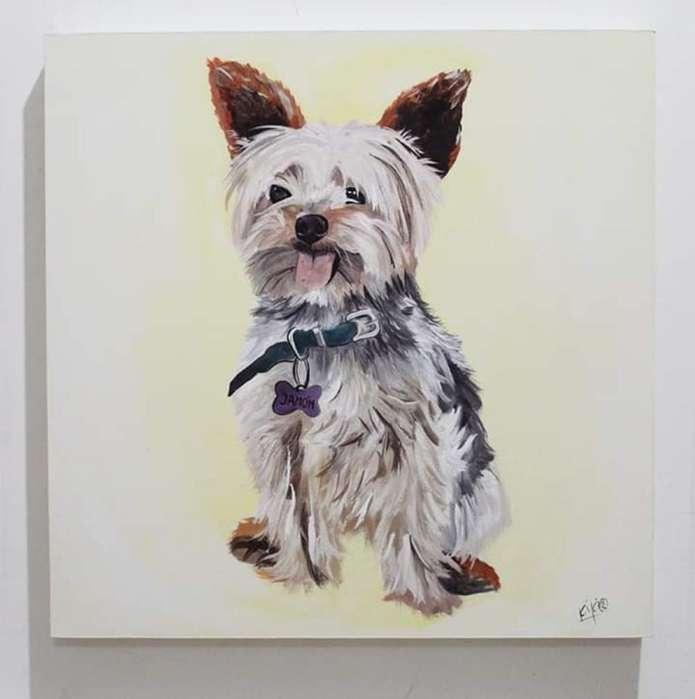 Retratos de Mascotas Pintados a Mano