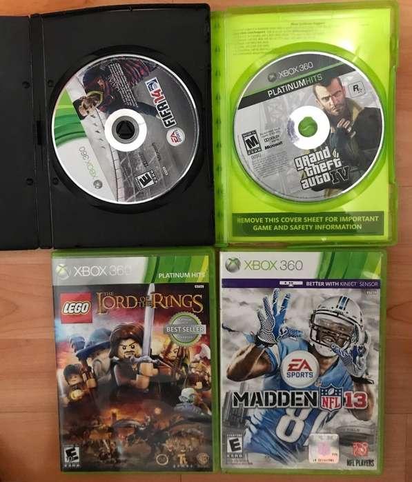 Combo de 4 Juegos Xbox 360