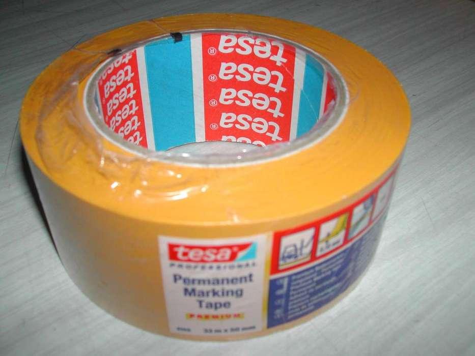 Cinta 4169 de pvc demarcatoria 50mm x 33m amarilla marca Tesa