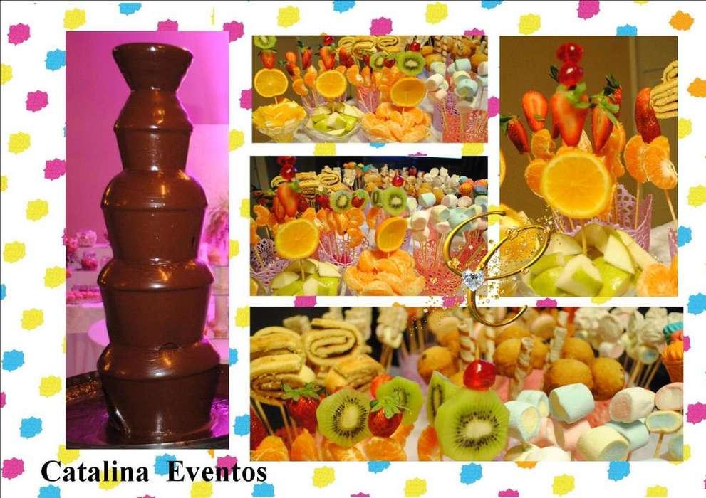 CATALINA EVENTOS 12 CUOTAS SIN INTERES !! CASCADA DE CHOCOLATE EN ALTA GRACIA