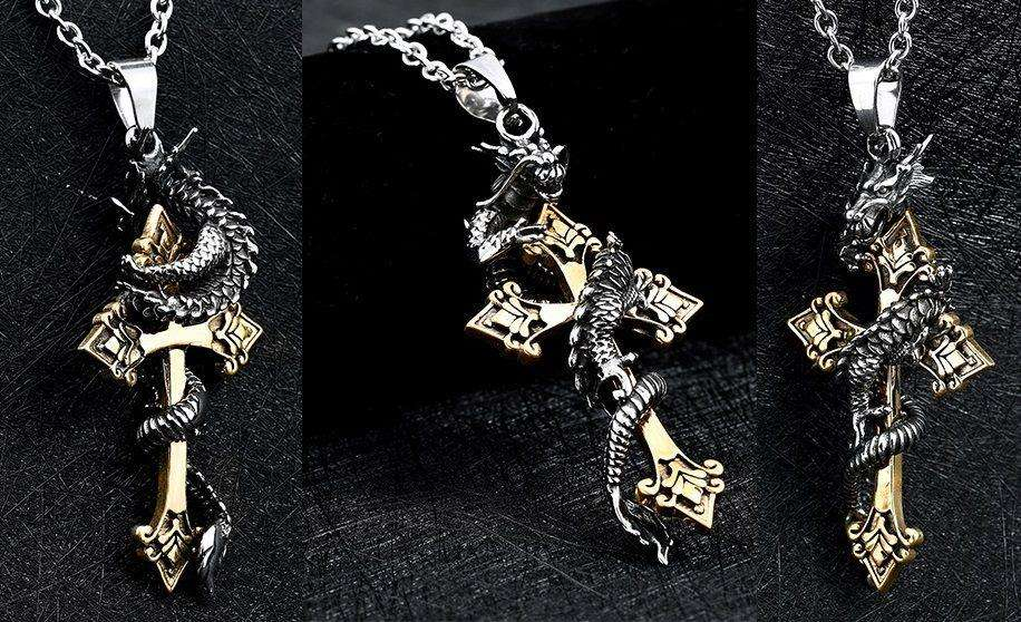Collar cruz dragon