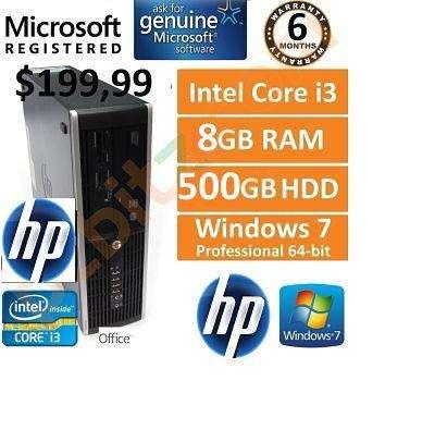 Computadora Hp 6200 Pro /Core I3 /8GbRam/500Gb