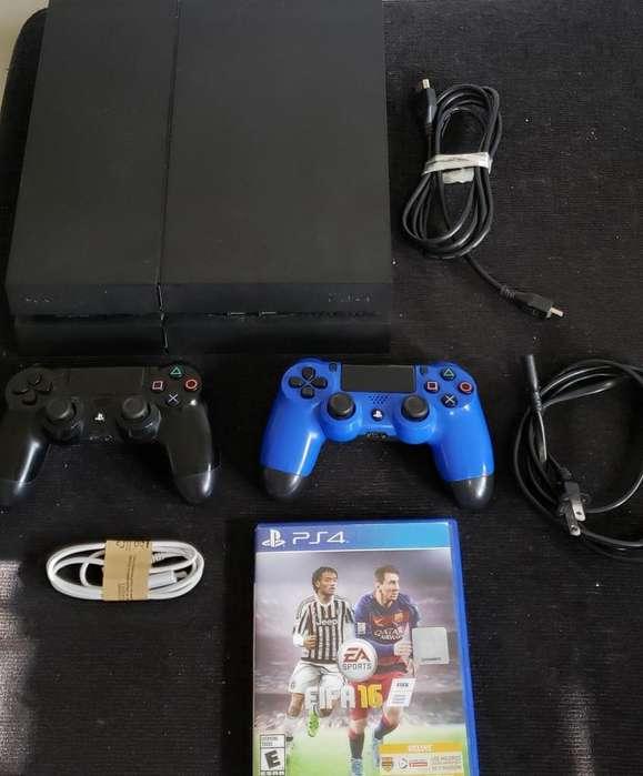 Sony Play Station 4 Ps4 4 Juegos 2 <strong>joysticks</strong> / Permuto