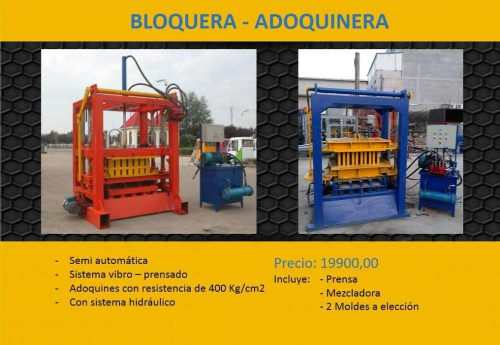 MAQUINA BLOQUERA - ADOQUINERA