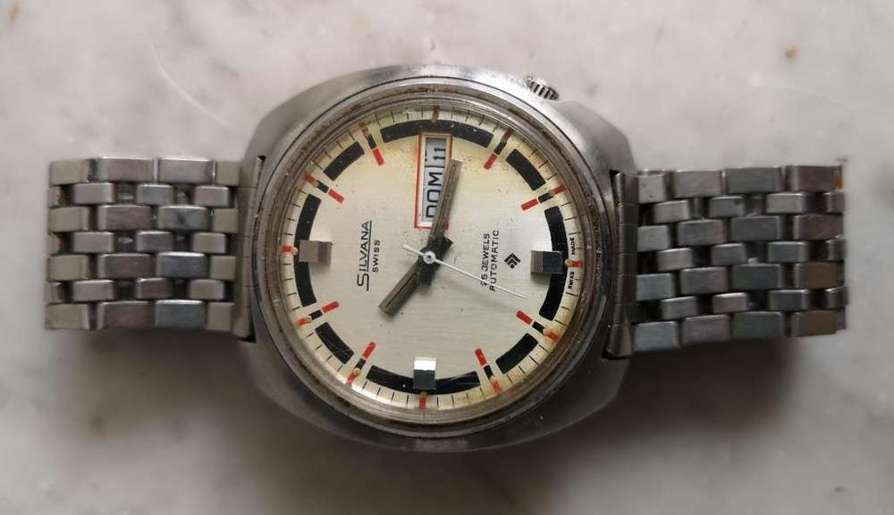 reloj vintage Silvana automatic unisex 1970s