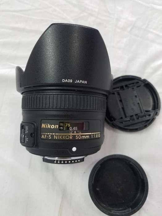 Lente Nikon 50m1.1.8nuevo Cl.0992574940
