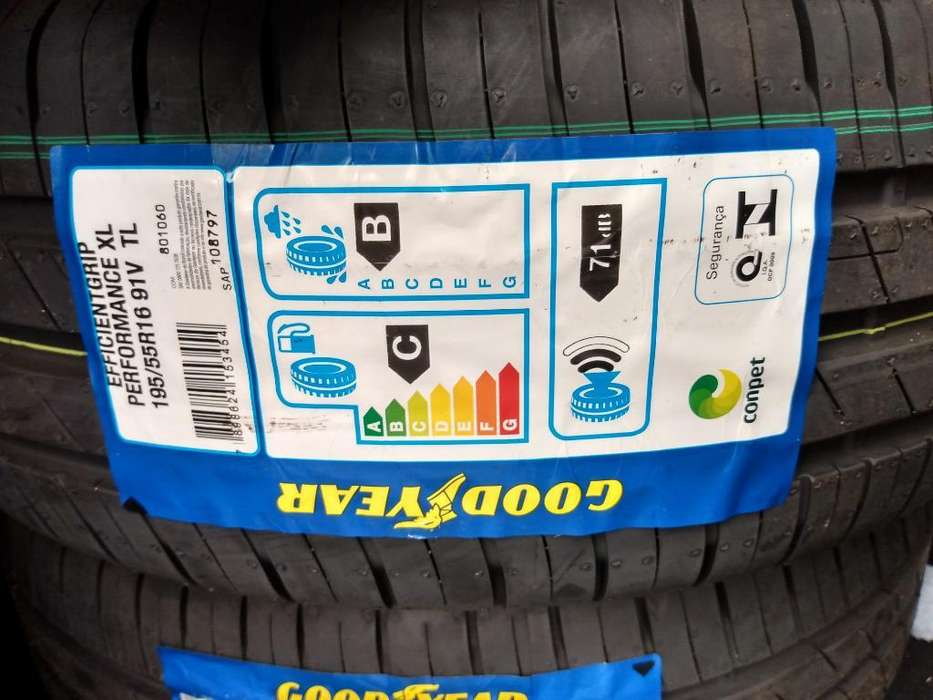 Kit 4 Cubiertas <strong>goodyear</strong> 195/55/r16