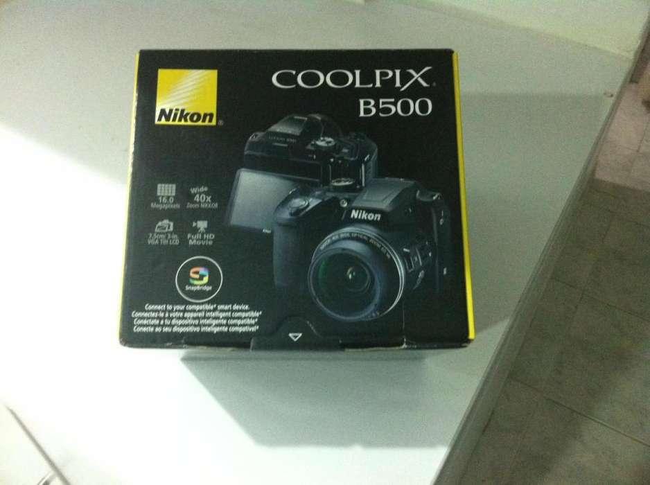 Camara NIKON Semiprofesional B500 Estuche SD 16GB Negra - NUEVA