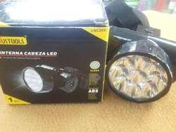 LINTERNA DE CABEZA 9 LED RECARGABLE