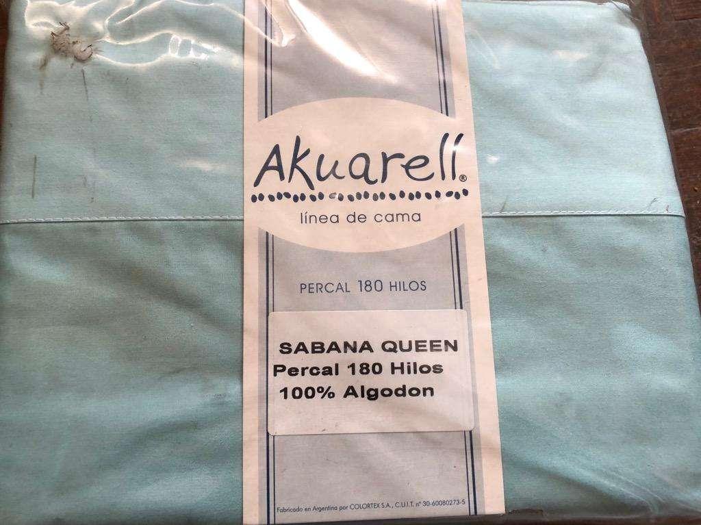Sabanas Queen Akuarell 180 Hilos Nueva