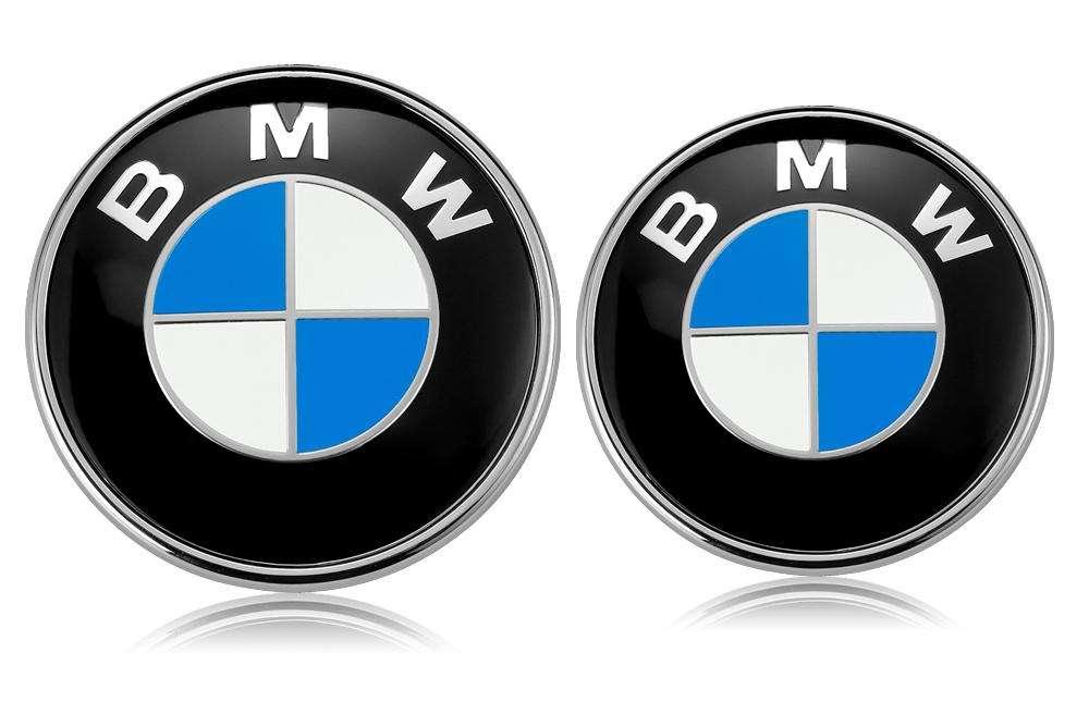 Emblema Capot Maletero 82 74mm Oem Alemania Bmw 2 Pin emblema logo 11mm llave control