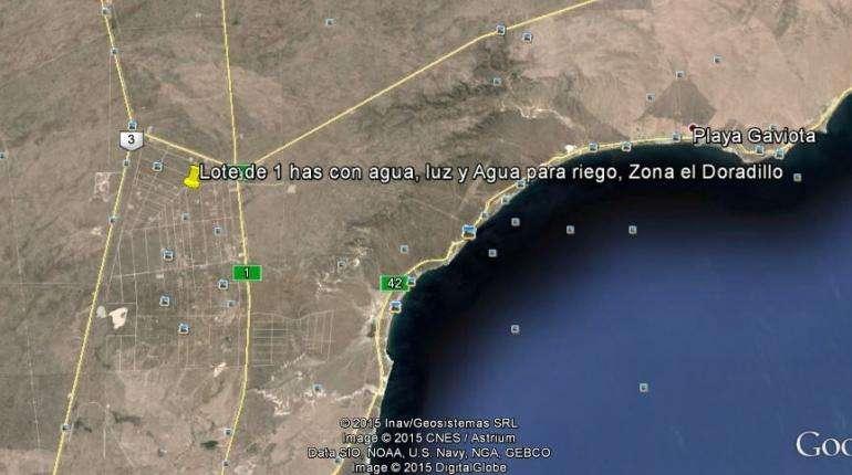 Vendo Lote en Doradillo Puerto Madryn Chubut 1 has 10000 m2. Escritura. Negociable, se escucha oferta.