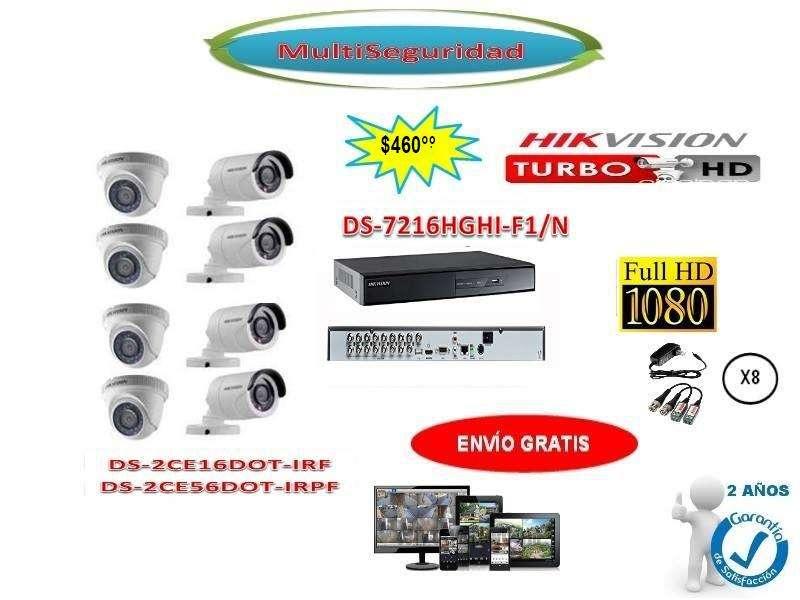 KIT HIKVISION TURBO HD 1080P 8CÁMARAS DVR 16CH ACCESORIOS CCTV