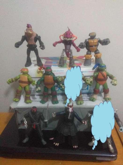 Lote Tortugas Ninja Tmnt Viacom Playmates 2002,2012,2015