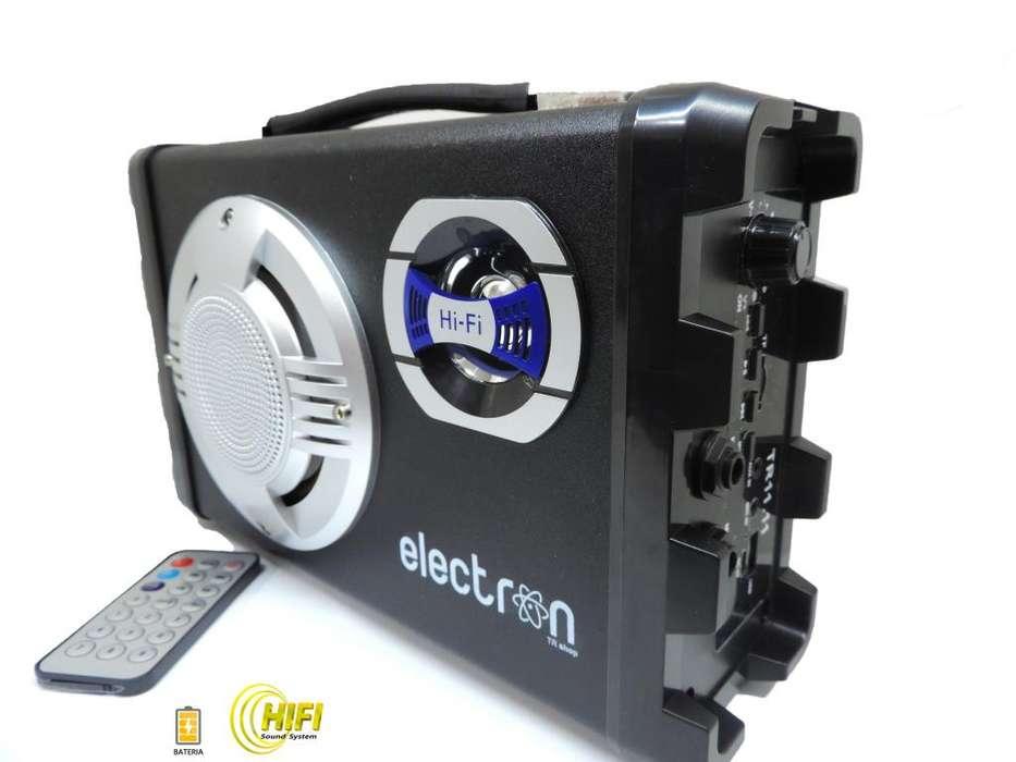 Parlante TR11.11 Bluet. FM USB SD HIFI alta calidad de sonido batería interna recargable