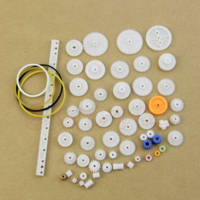 60 Piezas Ejes Plasticas