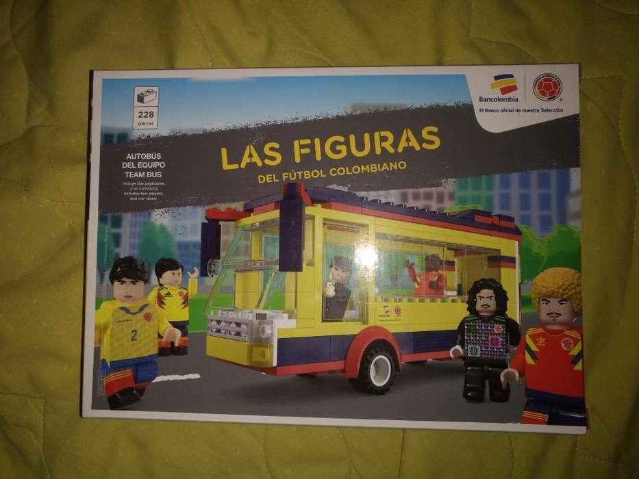Bus Lego. Las Figuras de Fútbol colombiano Colombia. caja sellada