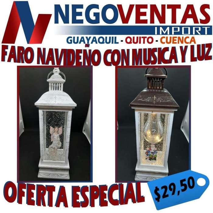 FARO NAVIDEÑO CON MÚSICA Y LUZ PRECIO OFERTA 29,50