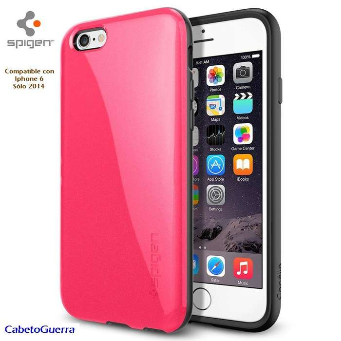 Forro Iphone 6 Spigen Rosa Capella Antigolpes *new Original