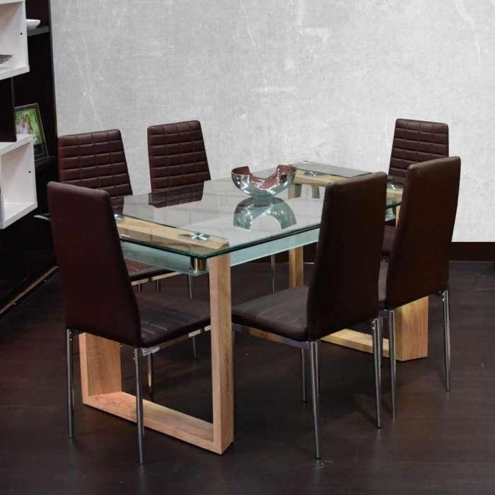 Comedor 6 puestos y mesa de centro para sala