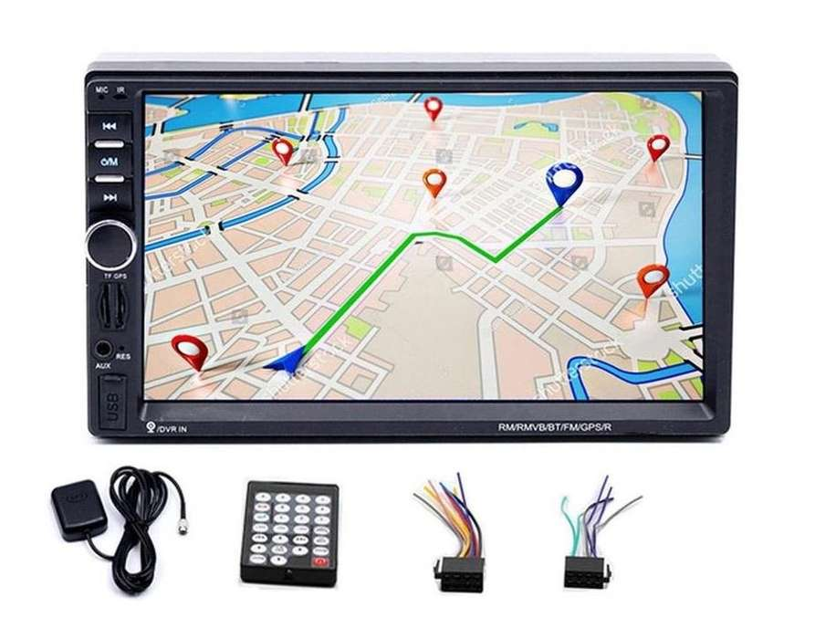 RADIO CON GPS SIN WIFI PARA CARRO BLUETOOTH MIRROR LINK USB