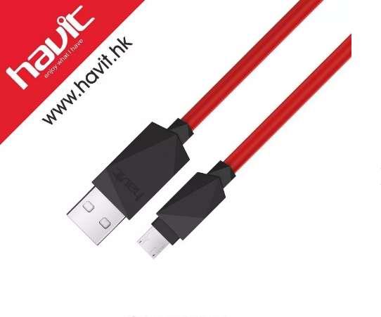 Cable USB A Micro Usb Havit 1mt Reforzado carga rapida samsung huawei lg, etc