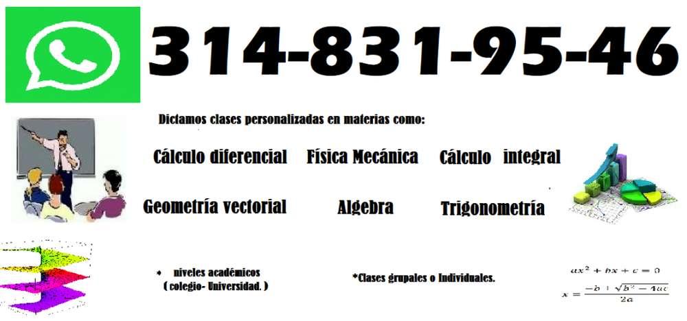 Clases y talleres de Cálculo, Matemáticas, Geometría, Tigonometría 3148319546