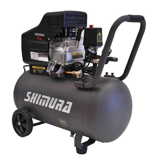 COMPRESOR 50 LITROS 2.5 HP SHIMURA 120 PSI SHAC50