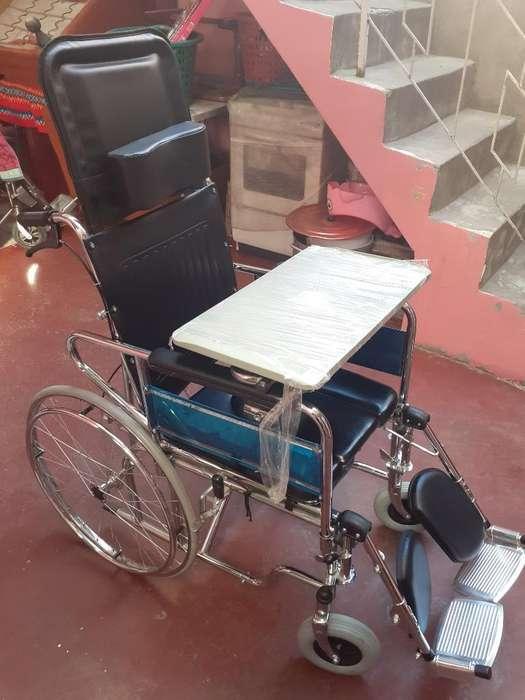 <strong>silla</strong> de Ruedas Reclinable Inodoro Mesa