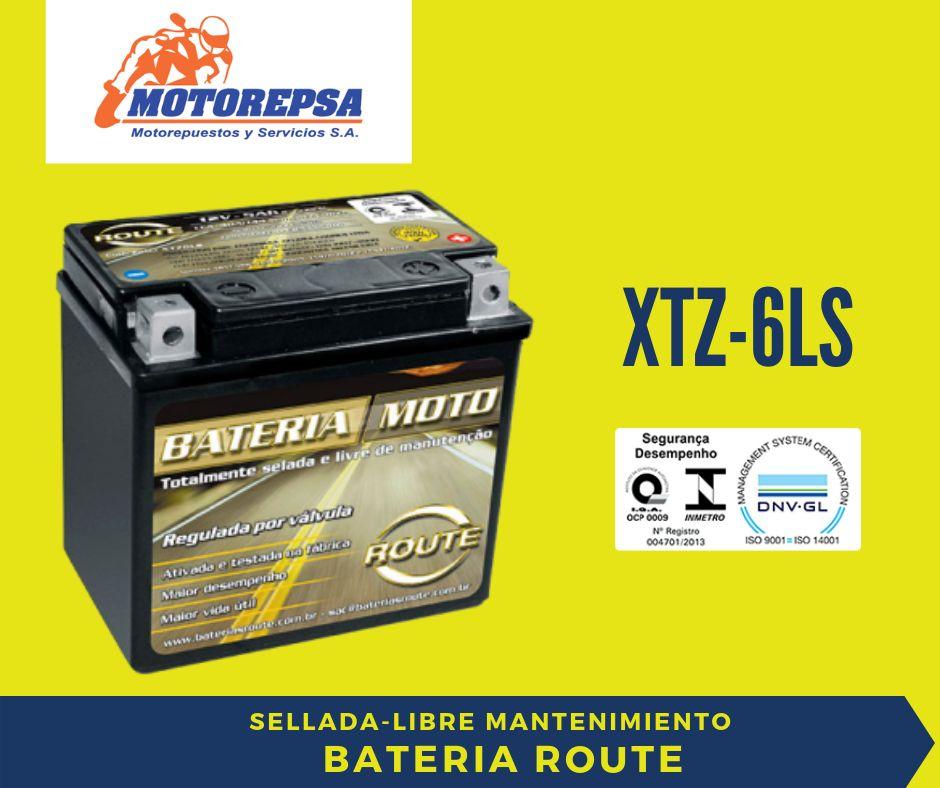 Bateria ROUTE para MOTO XTZ6LS/ 12v5Ah YTX5LBS
