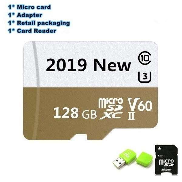 MicroSd 128 GB con adaptador y adaptador USB
