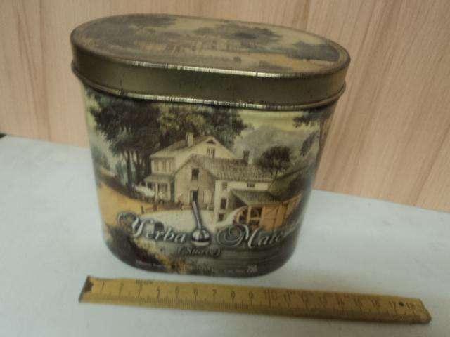 antigua lata yerba mate