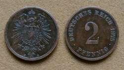 Moneda de 1 pfennig Alemania 1875A