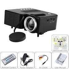 Mini Proyector Led Hd Video Beam Hdmi Sd Uc28 Control Negr
