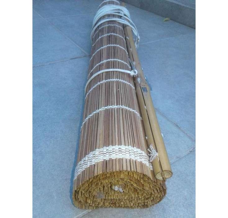 Cortina Enrollable De Bambu - 195 x 60