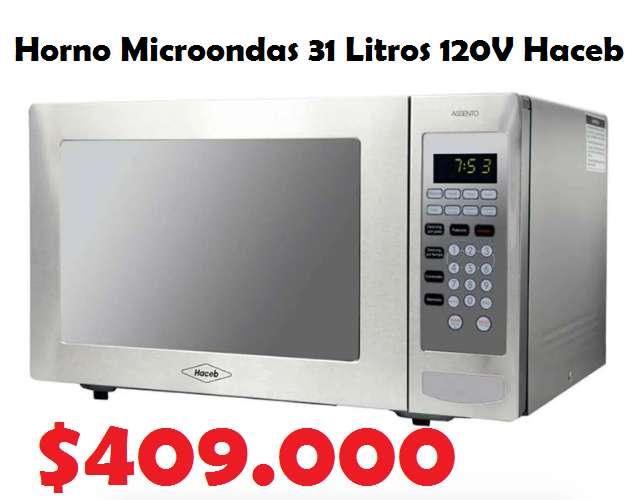 Horno Microondas 31 Litros 120V Haceb AS HM-1.1 P GRILL