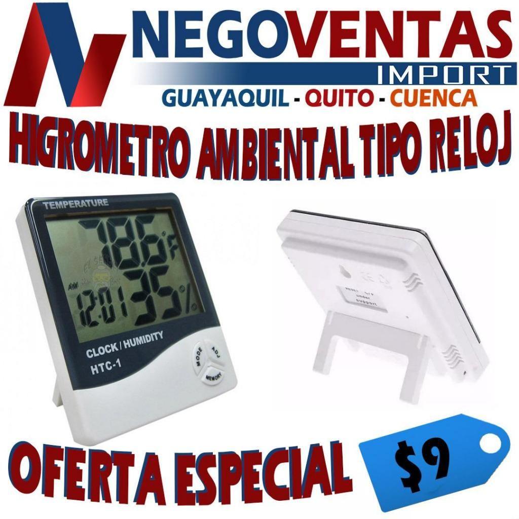 HIDROMETRO AMBIENTAL MEDIDOR DE HÚMEDAD MODELO TIPO RELOJ