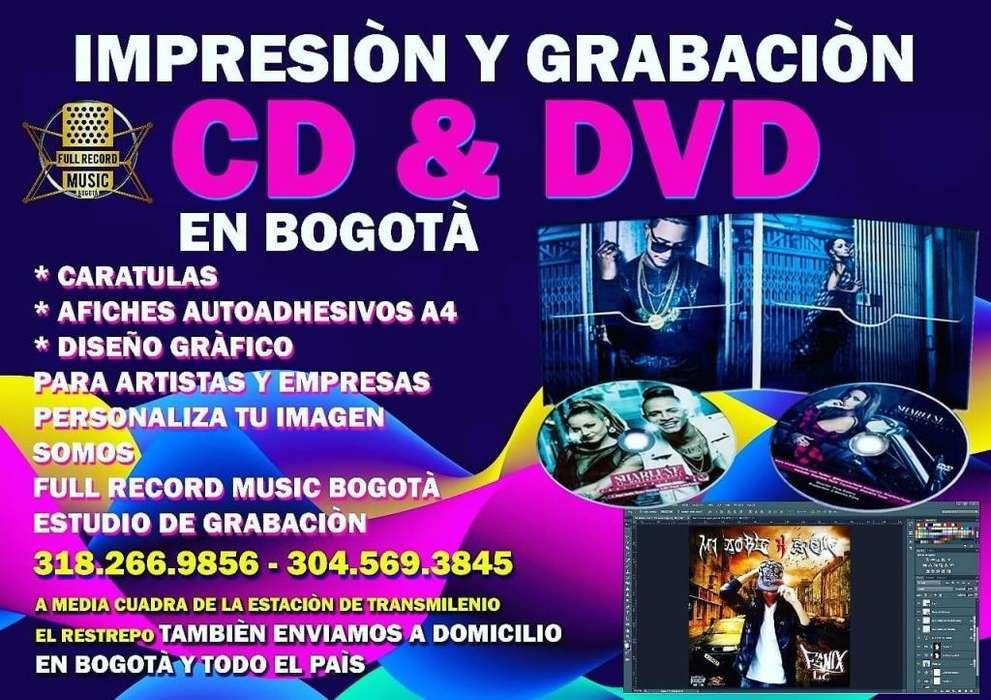 impresion y grabacion de cd y dvd multicopiado en bogota colombia