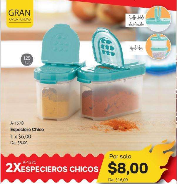 Especieros tupperware